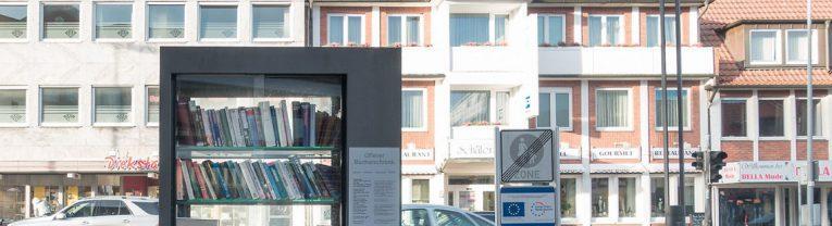 Offener Bücherschrank in Cloppenburg